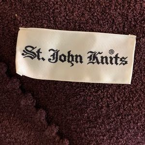 St. John Knits Vintage Brown Maxi Dress, Medium